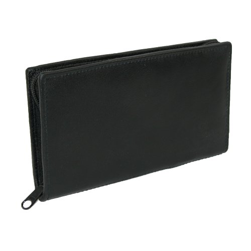 Paul & Taylor Leather Zippered Checkbook Cover and Wallet...