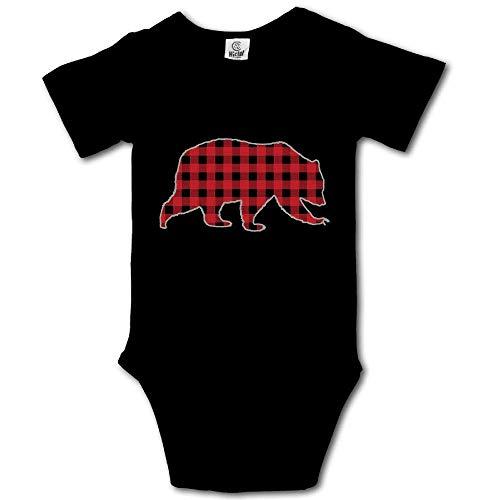 (Bear Buffalo Plaid Family Infant Baby Bodysuits Cotton Bodysuit Onesies)