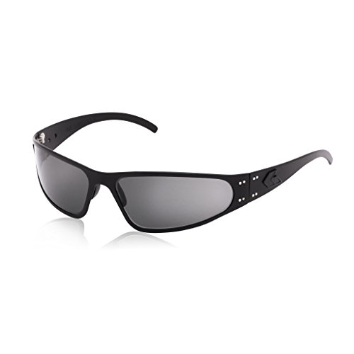 Gatorz Wraptor Sunglasses, Metal Aluminum Frame, Military Tactical Style, Made in USA - Blackout Sunglasses Polarized Smoked - Glasses In Usa Frames Made