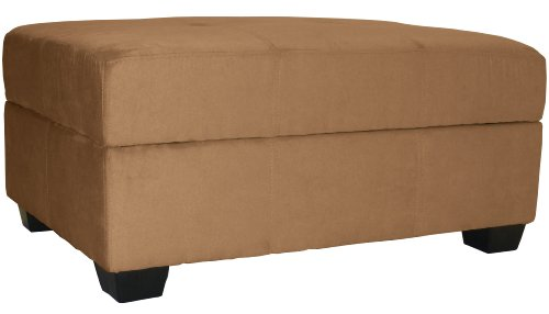 36 by 24 by 18-Inch Storage Ottoman Bench, Mocha Brown