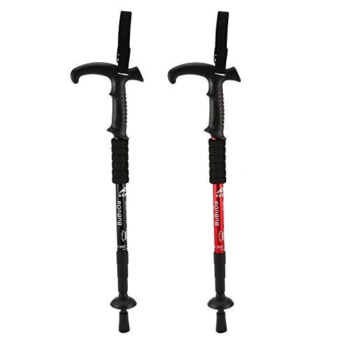 Retractable Anti Shock Walking Sticks Telescopic Trekking Hiking Poles Ultralight Sports Camping Mountaineering Canes Crutch