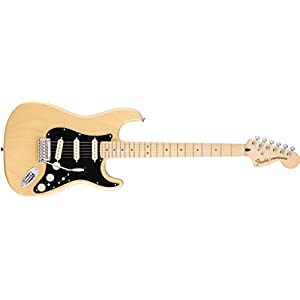 Fender 0147102307 Deluxe Stratocaster Maple Fingerboard Electric Guitar – Vintage Blonde