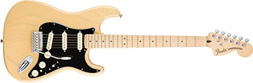 Fender Deluxe Stratocaster Electric Guitar, Maple Fingerboard, Vintage Blonde -  0147102307