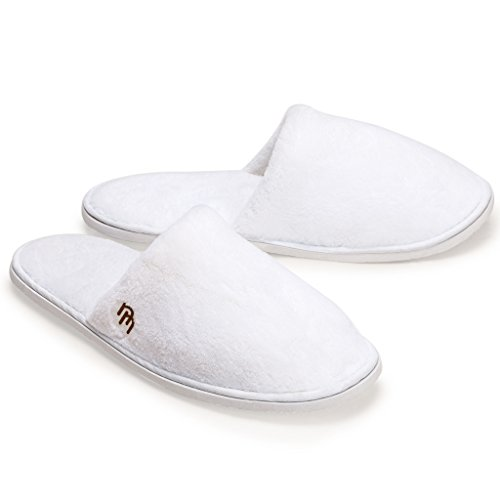 Nicely Neat Closed Toe Coral Fleece House Slippers, Pack of