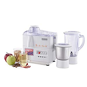 Usha 3345 450-Watt Juicer Mixer Grinder with 2 Jars (White)