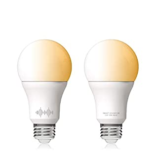 Helloify A19 Smart WiFi LED Light Bulbs, Tunable Changing, Warm to Cool White Dimmable, Work with Alexa & Google Home (No Hub), 60W Equivalent E26, 2700K-6500K
