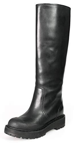 (Prada Women's 3W5922 Black Leather Boots EU 36 / US 6)