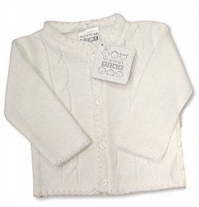58532ea3b Baby Boy White Cable Knitted Christening Wedding Cardigan Jumper ...