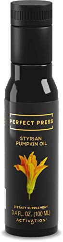 Styrian Pumpkin Oil- Perfect Press- Activation Products- Powerful Anti-Oxidant - Prostate, Bladder, and Kidney Health Benefits - Vegan - Organic (100ml)