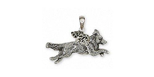 Border Collie Angel Pendant Jewelry Sterling Silver Handmade Dog Pendant BDC41X-AP