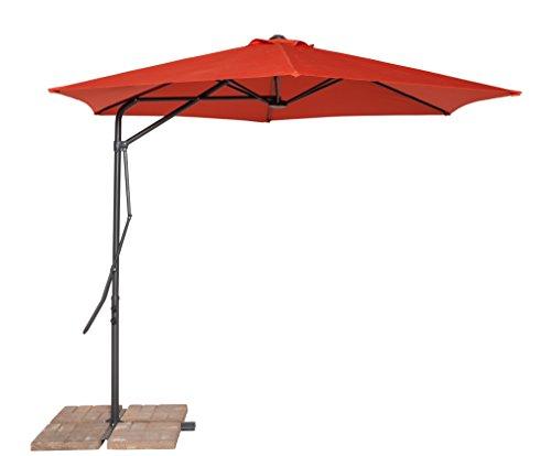 California Sun Shade Cantilever Umbrella Round 10' Terracotta California Cantilever Umbrella
