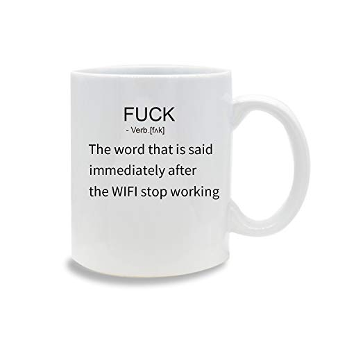 Funny Mug,Fuck Definition 11 OZ Coffee Mug Novelty, Office Tea Travel Mugs, Printed Ceramic Water Tea Drinks Cup ()