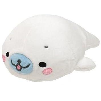 Juguete peluche kawaii de San-X foca Mamegoma blanca