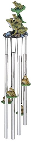 StealStreet SS-G-41951 Wind Chime Round Top Frogs Hanging Garden Porch Decoration Windchime