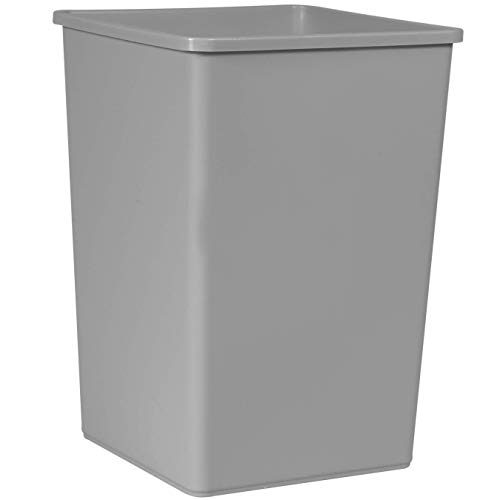 (Rubbermaid Commercial Products 35-Gallon Untouchable Square Trash/Garbage Can for Offices/Stores/Restaurants, Gray)