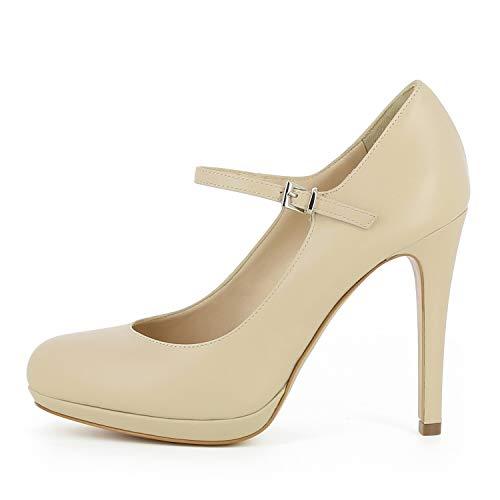 Scarpe da liscia Cristina beige pelle donna in Pdqq75Aw