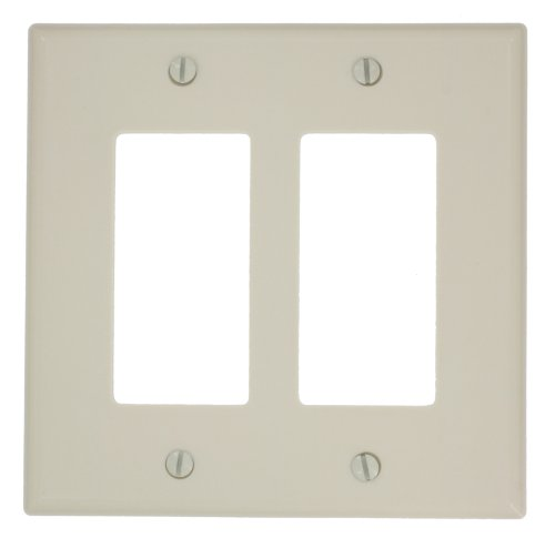 - Leviton 80609-T 2-Gang Decora/GFCI Device Wallplate, Light Almond