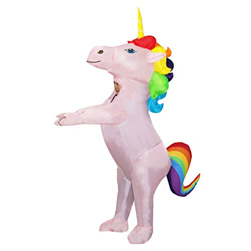 Boys Halloween Fancy Dress (Child Inflatable Unicorn Costume Kids Full Body Suit Fancy Party Dress for Boys Girls Halloween)