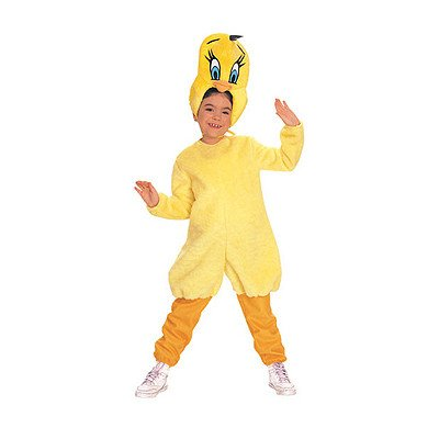 Tweety Bird Child Costumes (Looney Tunes Tweety Bird Costume Size: Small (4-6))