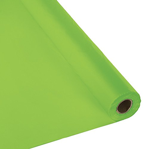 Plastic Party Banquet Table Cover Roll - 300 ft. x 40 in. - Disposable Tablecloth (Lime Green) -