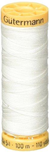 - Gutermann Natural Cotton Thread 110yd, Nu White