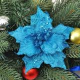 Nuxn 12pcs 13cm Glitter Poinsettia Christmas Tree