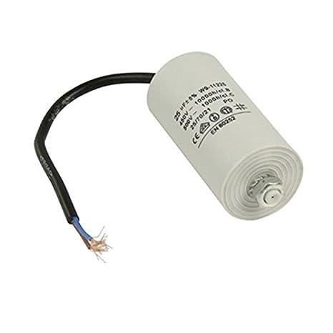 Kondensator Betriebskondensator Motorkondensator Anlaufkondensator Arbeitskondensator Steckeranschluss mit Kabel 450V Kabel W9 von 2,0/µF bis 50/µF w/ählen Sie die ben/ötigte Gr/ö/ße 2.0/µF 3/µF 2.5/µF 4/µ