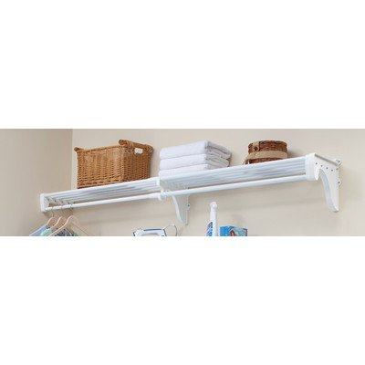 Charmant EZ Shelf   28u0026quot;   49u0026quot; Expandable Closet Shelf U0026 Hanging Rod   White