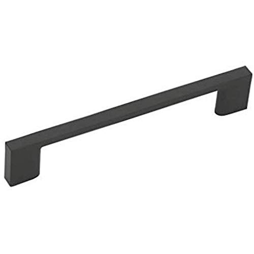 Aviano 10 Pack - Modern and Sleek Cabinet Pull, 5-7/8 in. (149mm) Overall Length - (Matte Black)