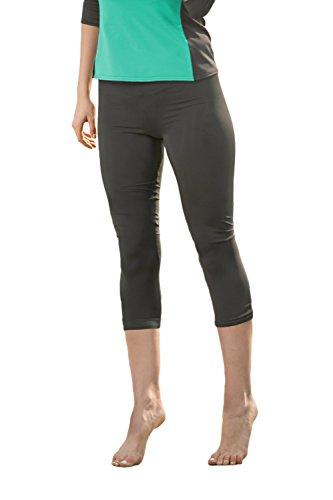 Undercover Waterwear Womens Swim Leggings Athletic Capris- UV Protection Cover Up- Plus