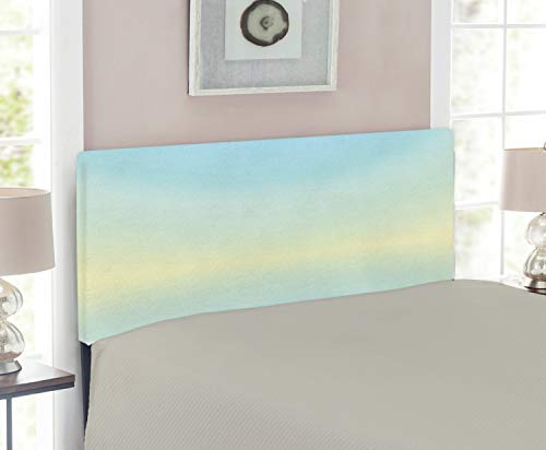 - Ambesonne Teal Headboard for Twin Size Bed, Defocused Abstract Design in The Center Blurred Color Elements Sky Blue Like Artwork, Upholstered Decorative Metal Headboard with Memory Foam, Baby Blue