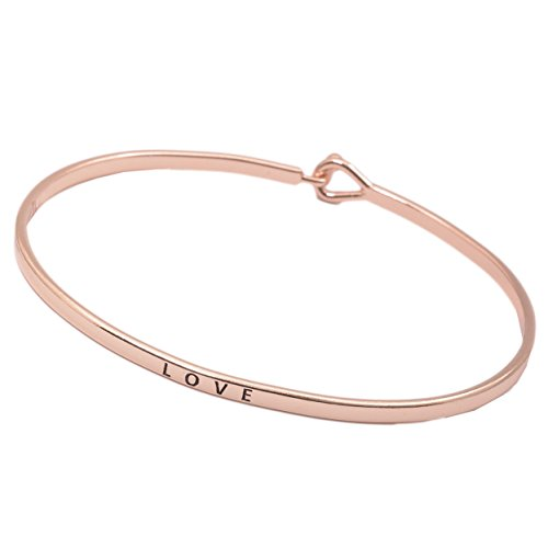 chelseachicNYC Inspirational Mantra Message Bracelet (Love-Rose Gold)