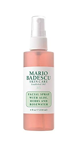 Mario Badescu Facial Spray with Aloe, Herbs and Rosewater, 4 Fl Oz (Pack of 1)