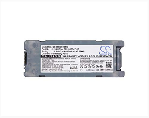 6600mAh Battery for MINDRAY BeneHeart D6 022-000012-00 022-000047-00 0651-30-77120 LI34I001A Medical Battery