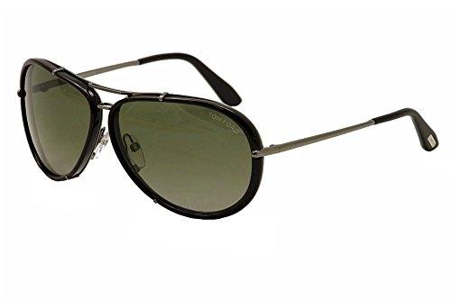 Tom Ford Tf 109 Cyrille Black Frame/Green Lens - 2013 Ford Sunglasses Tom Men