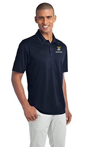 Custom Embroidered Port Authority Polo Shirts - Free Logo Setup - Pack of 5 Navy