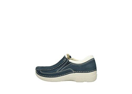 Wolky Comfort Slippers Roll Sneaker 10820 denim blau Nubukleder