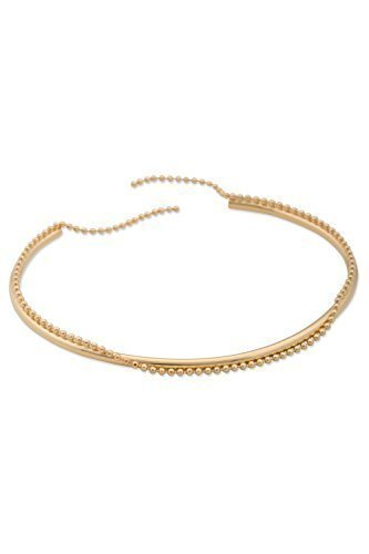 Sabrina dehoff-bracelets tube &chain - 51-200-laiton plaqué or 23 carats