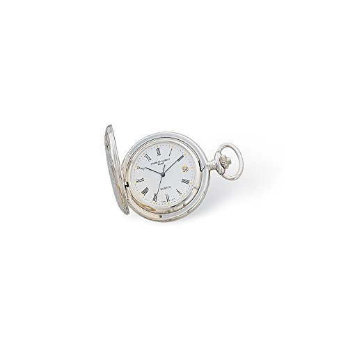 Charles-Hubert, Paris Women's 3559-T Classic Collection Analog Display Quartz Silver Pocket Watch