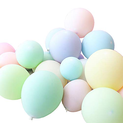100 Pcs 10 Inches Candy Assorted Colors Macaron Balloons for Party Decoration (Multicolor)