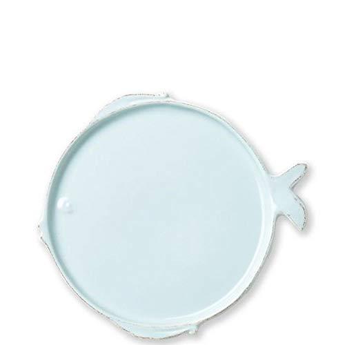Vietri Melamine Lastra Fish Aqua Dinner Plate
