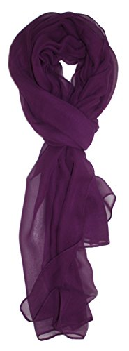 Ted and Jack – Solid Silk Lightweight Accent Scarf in Plum