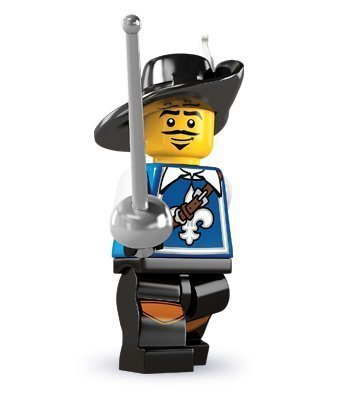 Lego Collectable Minifigures: Musketeer Minifigure - Series 4 (Musketeer Lego)