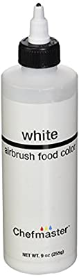 Chefmaster Airbrush Spray Food Color, 9-Ounce, White