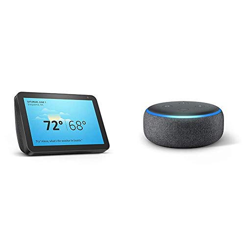 Echo Show 8 (Charcoal) with Echo Dot (Charcoal) Now $79.99 (Was $179.98)