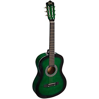Amazon Com 38 Green Acoustic Guitar Starters Beginner Package