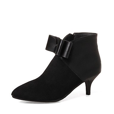 Stiletto Evening Ankle Boots Bootie amp; Party EU38 US7 RTRY Booties Gray 5 Toe Bowknot UK5 Winter Zipper Dress Boots Heel CN38 Leatherette 5 Women's For Pointed Shoes UgTPPaYc