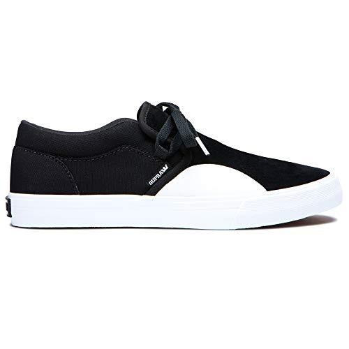 Supra Men's Cuba Shoes, Black-White, 12