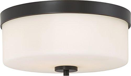 (Nuvo Lighting 60/6331 Denver 2 Light Flush Mount Fixture-Mahogany Bronze Finish)