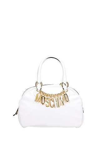A7488800100001 Moschino Bowling Bags Women Leather White